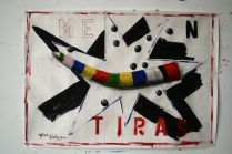 mentiras,mix media on paper,82x60cm